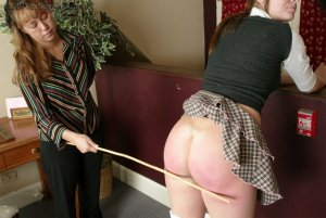 Real Spankings - Jackie Caned By Ms. Baker - image 16