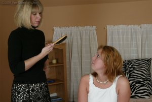 Real Spankings - Brooke's Hair Brush Spanking - image 1