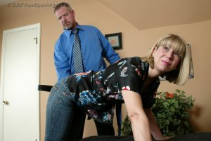 Real Spankings - A Belting For Ms. Burns - image 11