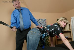 Real Spankings - A Belting For Ms. Burns - image 2