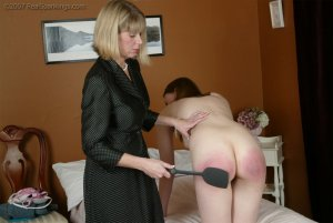 Real Spankings - Monica's Private Session With Ms. Burns - Part 1 - image 5