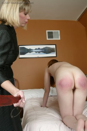 Real Spankings - Monica's Private Session With Ms. Burns - Part 2 - image 1
