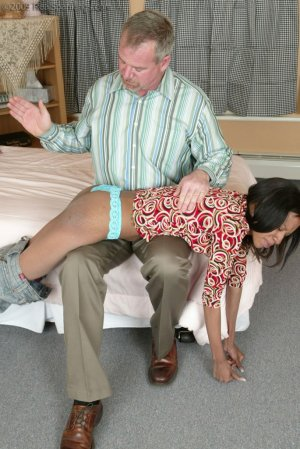 Real Spankings - Mr. Daniels Gives Janelle Some Discipline - image 2
