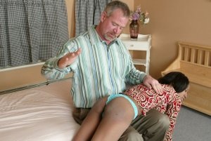 Real Spankings - Mr. Daniels Gives Janelle Some Discipline - image 8