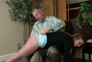 Real Spankings - Riley Strapped By Mr. Daniels - image 1