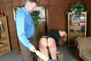 Real Spankings - Mr. Daniels Helps Cindy - image 1