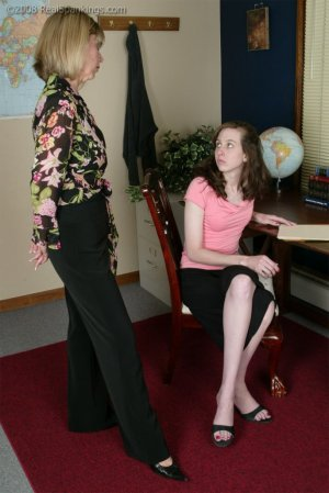 Real Spankings - Helen's Confrontation With Ms. Burns - image 3