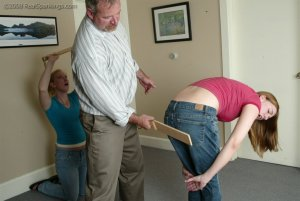 Real Spankings - Brooke And Monica Paddled Together - Part 1 - image 4
