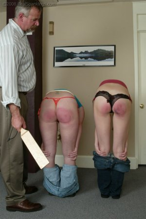Real Spankings - Brooke And Monica Paddled Together - Part 2 - image 4