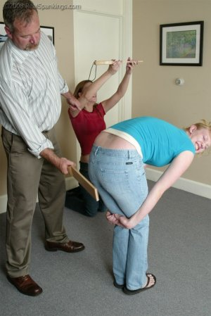 Real Spankings - Brooke And Monica Paddled Together - Part 1 - image 2