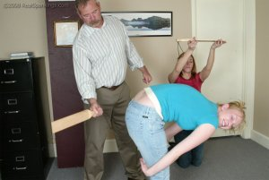 Real Spankings - Brooke And Monica Paddled Together - Part 1 - image 7