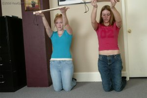 Real Spankings - Brooke And Monica Paddled Together - Part 1 - image 6
