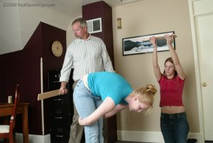 Real Spankings - Brooke And Monica Paddled Together - Part 1 - image 13