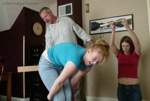 Real Spankings - Brooke And Monica Paddled Together - Part 1 - image 14