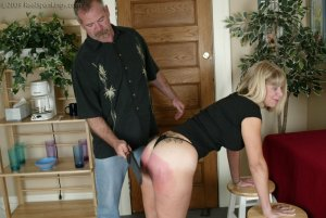 Real Spankings - Ms. Burns Is Strapped For Not Following Instructions - image 1