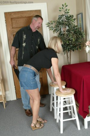 Real Spankings - Ms. Burns Is Strapped For Not Following Instructions - image 16
