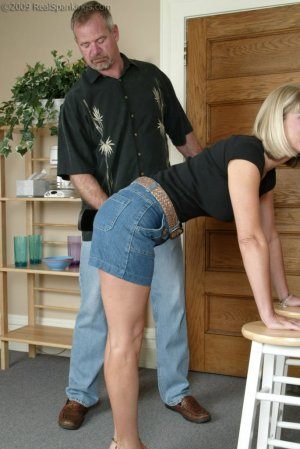Real Spankings - Ms. Burns Is Strapped For Not Following Instructions - image 2