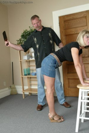 Real Spankings - Ms. Burns Is Strapped For Not Following Instructions - image 3