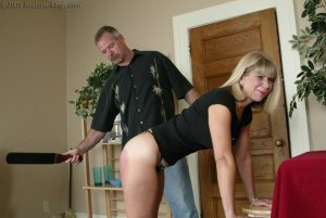 Real Spankings - Ms. Burns Is Strapped For Not Following Instructions - image 9