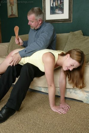 Real Spankings - Monica Lies About A Dent In The Car - image 6
