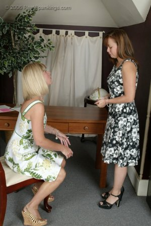 Real Spankings - Cindy Gets A Little Help From Ms. Burns - image 1
