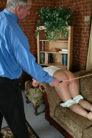Real Spankings - Cindy's Living Room Caning - image 5