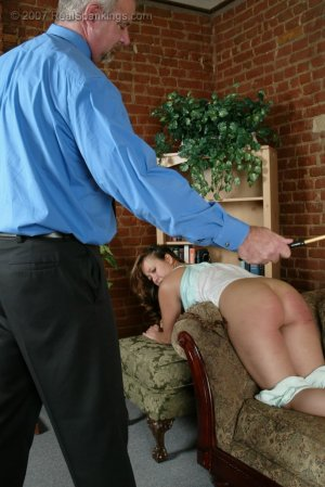 Real Spankings - Cindy's Living Room Caning - image 1