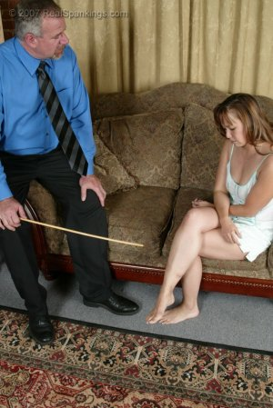 Real Spankings - Cindy's Living Room Caning - image 2