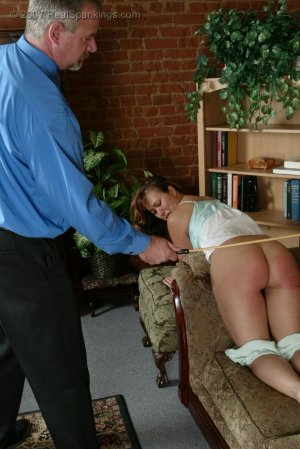 Real Spankings - Cindy's Living Room Caning - image 4