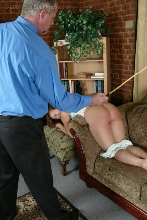Real Spankings - Cindy's Living Room Caning - image 10