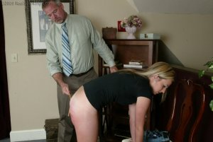 Real Spankings - Bare School Strokes: Riley - image 1