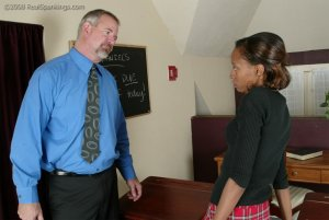 Real Spankings - Janelle Is Caught Ditching Detention - image 6