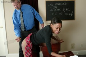 Real Spankings - Janelle Is Caught Ditching Detention - image 1
