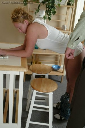Real Spankings - Brooke Forgets To Call - image 1