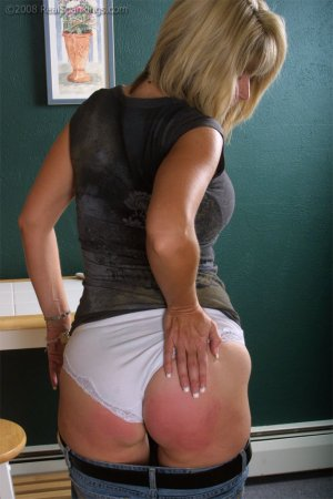 Real Spankings - Ms. Burns Forgets To Lock The House - image 1