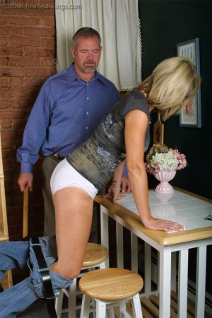 Real Spankings - Ms. Burns Forgets To Lock The House - image 12