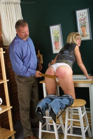 Real Spankings - Ms. Burns Forgets To Lock The House - image 4