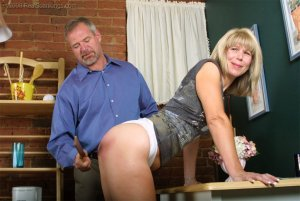 Real Spankings - Ms. Burns Forgets To Lock The House - image 2