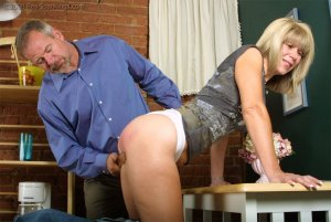 Real Spankings - Ms. Burns Forgets To Lock The House - image 11