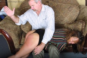 Real Spankings - A Lie Gets Cindy Spanked - image 1