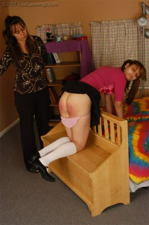 Real Spankings - Raquel Violates Dress Code - image 9