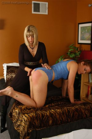 Real Spankings - Cassidy Is Spanked On All Fours - image 8
