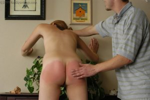 Real Spankings - Monica Is Caught Naked - image 1
