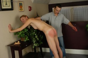 Real Spankings - Monica Is Caught Naked - image 2