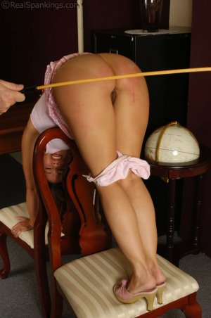 Real Spankings - Cindy's Office Discipline - image 1
