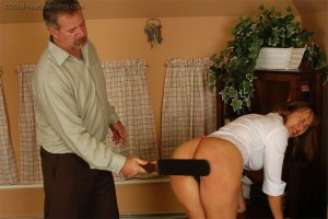 Real Spankings - Cindy Is Spanked On The Table - image 8