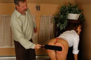 Real Spankings - Cindy Is Spanked On The Table - image 2