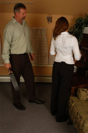 Real Spankings - Cindy Is Spanked On The Table - image 15