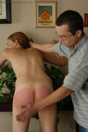Real Spankings - Monica Is Caught Naked - image 8