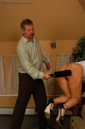 Real Spankings - Cindy Is Spanked On The Table - image 18